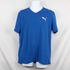 Puma V-Neck T-shirt, Size Large